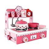 Mini Kids Küche Pretend Play Set, Holz Küche Spielzeug-Set mit Spüle Schrank sicheres Material...