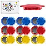 18 x Magnete Rund 40mm Kühlschrankmagnete Magnet für Whiteboard, Pinnwand, Magnettafel,...