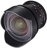Samyang 14/3,1 Objektiv Video DSLR II Canon EF manueller Fokus Videoobjektiv 0,8 Zahnkranz Gear,...