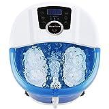 Fußbad-Massagegerät 6 in 1-Wärme, Blasen, Vibration, 4 Motorisierte Massagerollen,...