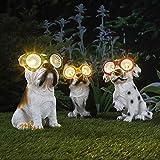LED Solar - Leuchte Hund