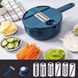 DW007 Vegetable Mandoline Schneidemaschine 10 in 1 Gemüsespiralizer Cutter Und Shredder Küche...