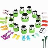 Magigift Gemüseschneider Shapes Set, 12 Stück Edelstahl Mini Ausstechformen, Gemüseschneider und...