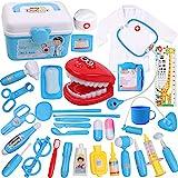 DigHealth 34 Stück Kinder Arztkoffer Spielzeug,Doktorkoffer zum Rollenspiel,Arzt Medizinisches...