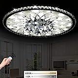 LED Dimmbar Deckenleuchte Deckenstrahler Modern Runde Kristall Design Deckenlampe Kreative...