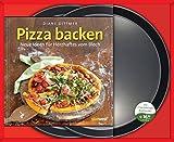 Pizza backen-Set: Neue Ideen für Herzhaftes vom Blech. Buch mit zwei Pizzablechen