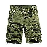 Outdoor Pants fr Cool Jungen Vintage Arbeitshorts mit Viel Taschen Cargo Shorts Herren Kurze Hose...