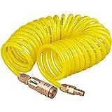 Oasser Druckluft Spiralschlauch Druckschlauch Luftdruckschlauch Kompressor Schlauch 7.6M 12 bar