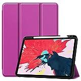 Hlle Kompatibel mit iPad Pro 11 Zoll 2020, Case PU Ledertasche mit Apple Pencil Eingebauter...