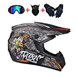 ZZSG Motocross Helm Herren, ATV Helm für Männer Damen Sicherheit Schutz Motocross Enduro MTB Helm...