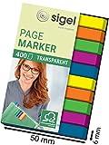 SIGEL HN617 Mini-Haftmarker Textstreifen Index, 1er Pack (400 extra schmale Streifen im Format 6 x...