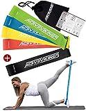 Fitnessbänder Set 5-Stärken by ActiveVikings® - Ideal für Muskelaufbau Physiotherapie Pilates...