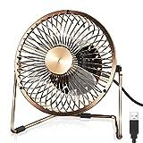 Funme Mini USB Ventilator Tragbar 5 Zoll Lfter Tischventilator Portable Fans 360 Grad Drehung...