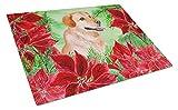 Caroline's Treasures CK1361LCB Glasschneidebrett Labrador Retriever Weihnachtsstern groß, 12 x 16...