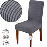 LUOLLOVE Stuhlhussen, Stretch Abnehmbare Waschbar Stuhlbezug für Esszimmerstühle,Stretch Stuhl Mit...