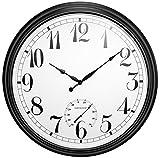 XXL-Gartenuhr, schwarz, 90cm- About Time