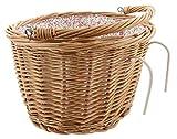 Dekoleidenschaft Fahrradkorb vorne aus Weide, abnehmbar, Textileinsatz mit fröhlichen bunten...