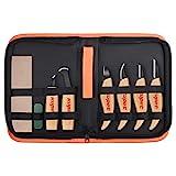kupet Holzschnitzwerkzeuge Set, 6 Stück Geometrische Holz Schnitzwerkzeuge Set Messer Kit für...
