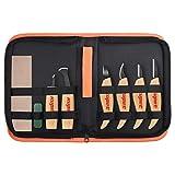 kupet Holzschnitzwerkzeuge Set, 6 Stck Geometrische Holz Schnitzwerkzeuge Set Messer Kit fr Kinder...