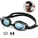 synmixx Schwimmbrillen mit UV-Schutz Anti Nebel Verstellbar Gurt Komfort Freizeit Profi...
