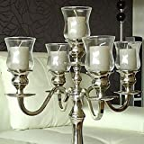 Dekowelten 5 er Set Teelichthalter Teelichtaufsatz aus Glas Glasaufsatz für Kerzenleuchter -...