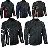 HEYBERRY Herren Touren Motorradjacke Textil schwarz Gr. XXL