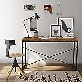 LENTIA Arbeitstisch Computertisch Schreibtisch aus Holz und Metall PC Tisch Stabiler Bürotisch für...