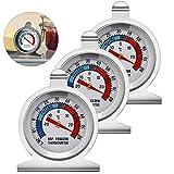 Sunshine smile Gefrierschrankthermometer, 3 Stück kühlschrankthermometer Set,Thermometer...