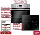 Amica EHC 933 015 E Einbauherd Set | 9-fach Multifunktion Backofen mit Grill und Umluft |...