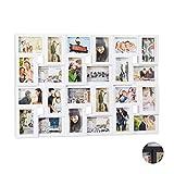 Relaxdays XXL Bilderrahmen Collagen, für 24 Bilder in 9 x 13, Hoch-oder Querformat, Kunststoff, HxB...