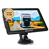 GPS Navigation für LKW, Aonerex 9 Zoll Touchscreen Navigationsgerät für Auto PKW KFZ 16GB Navi...