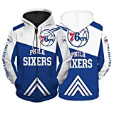 YPKL Philadelphia 76ers Printing Contemorative Edition Hoodie Pullover, neues...