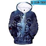 xzjxzj 3D Hoodie Sweatshirt Männer und Frauen Herbst und Winter Mode XL-3