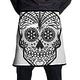 Apron Illustration Mexican Sugar Skull Day Dead Adjustable Kitchen Apron Soft Chef Apron With Pocket...