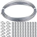 Drahtseil Stahlkabel Geländer Set Enthalten Edelstahl Drahtseil Kabel, Aluminium Crimphülsen und...