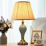 Mxbbg Amerikanische LED Tischleuchte Keramik Schlafzimmer Nachttischlampe Simple Touch Moderne...