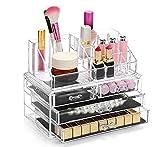 display4top Schmuck Aufbewahrungsbox Acryl Cosmetics Lipsticks Make-up-Organizer Halter Box (4...
