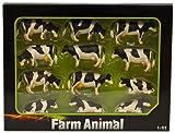 Kids Globe 571929 Kühe schwarz/weiß, 12 Stück
