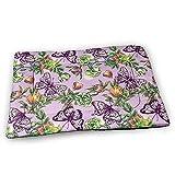 YAGEAD Boho Blumen und Schmetterlinge Hundebettmatte mit wasserdichtem rutschfesten Boden, waschbare...