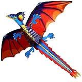 MROSW 140Cx120cm 3D Drachen Kite Einzellinie Mit Schwanz Kites Outdoor Fun Spielzeug Kite Familie...