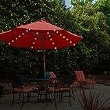 GardenKraft LED-Lampenschirm, batteriebetrieben, mit Chaser und Timer-Funktion, Warmwei