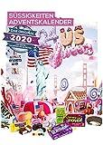 Amerikanischer Adventskalender 2020 I US Weihnachtskalender American Candy mit 24 Süßigkeiten aus...