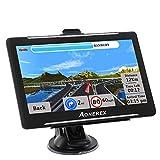 Aonerex GPS Navi Navigation für Auto LKW PKW KFZ 7 Zoll Navigationsgerät mit Blitzerwarnung POI...