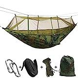 SHLYXY Garten Hngenden Bett Zelt,mit tragbaren Fallschirm Nylon Hngematten mit Mcken und Baumgurten...