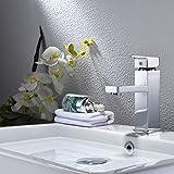 Verchromter Waschbecken Wasserhahn Messing Wasserhahn Silber Wasserhahn Einhand Einloch Eindeck Deck...