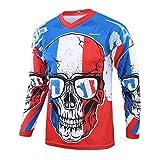 PYERJHGMBJN 2020 Full Sleeve Downhill Jersey Motocross Men Mountain Bike Jersey Unisex Skull...