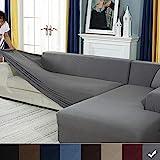 YJOY Sofabezug Sofaberwrfe fr L-Form Sofa elastische Stretch Sofabezug,Set fr 1-4 Sitzer Sofa(Wenn...