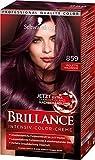 SCHWARZKOPF BRILLANCE Intensiv-Color-Creme 859 Violette Wildseide Stufe 3, mit extra...