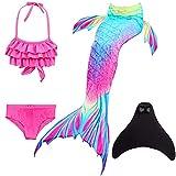 SPEEDEVE Meerjungfrauenschwanz zum Schwimmen mit Meerjungfrau Flosse 110-170cm Höhe, Dh02+wjf48,...