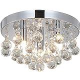 Natsen® LED Kristall Deckenleuchte Deckenlampe Hängeleuchte 3-flammig Ø 25cm G9 Lieferung ohne...